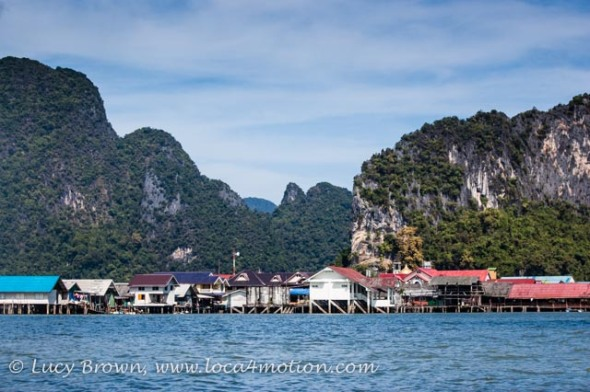Stilted houses on Koh Panyee (Ko Panyi), Phang Nga Bay, Thailand