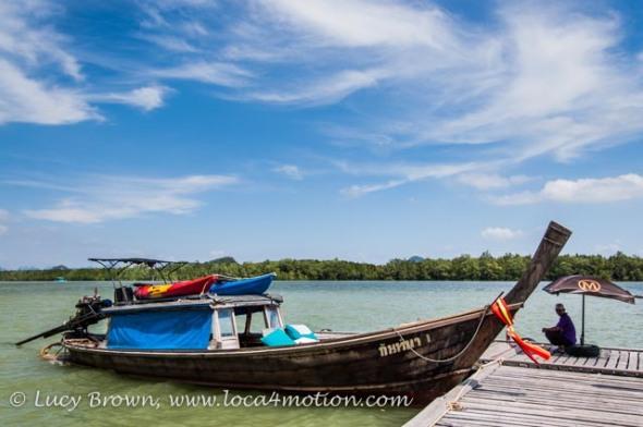 Long-tail boat, Koh Panyee (Ko Panyi), Phang Nga Bay, Thailand