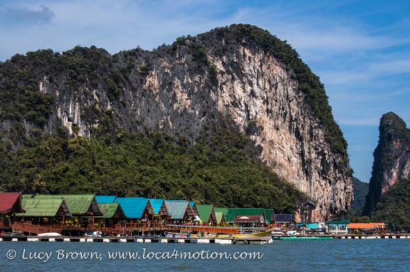 Floating seafood restaurants with a sea view, Koh Panyee (Ko Panyi), Phang Nga Bay, Thailand