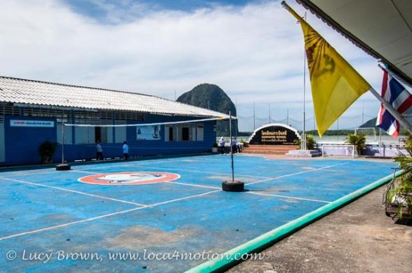 Playground, Koh Panyee School (Ko Panyi), Phang Nga Bay, Thailand