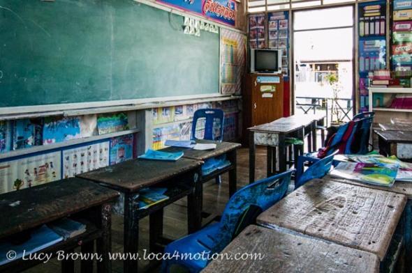 Classroom interior, Koh Panyee School (Ko Panyi), Phang Nga Bay, Thailand