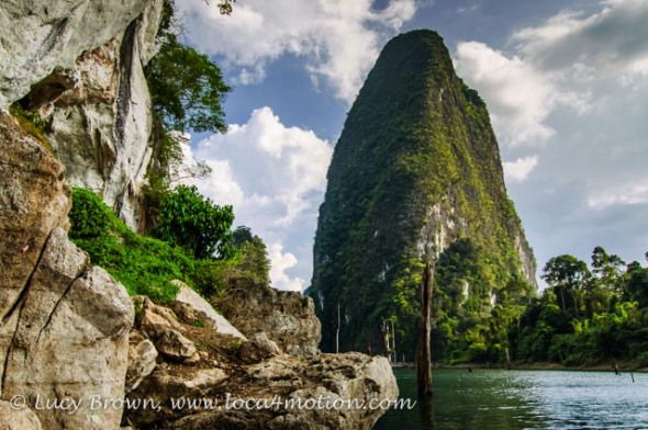 Giant Rock, Cheow Lan Lake, Khao Sok National Park, southern Thailand