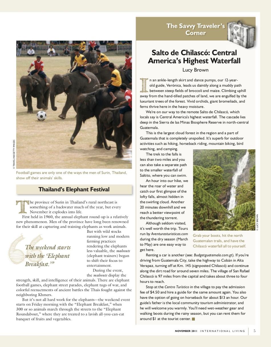 ILMagazine_Nov2011_SaltodeChilasco_CentralAmericasHighestWaterfall