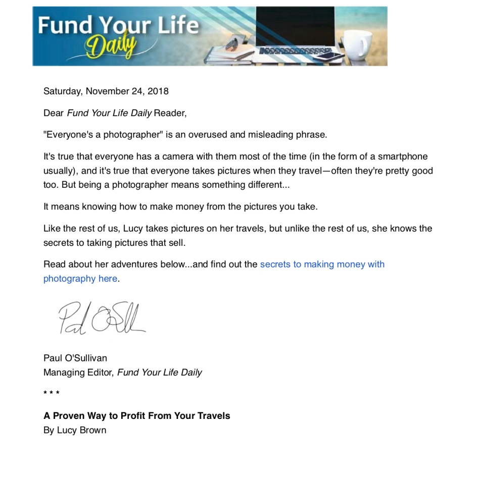 2018-11-25 Published IL FYLD - A Proven Way to Profit From Your Travels jpg p1